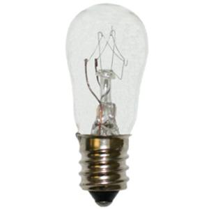 Candela 3S6/5-130V-I Miniature Lamp, 130 Volt, 3 Watt, Candelabra Screw Base