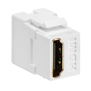 Leviton 40834-W HDMI Connector, Feedthrough, QuickPort,White