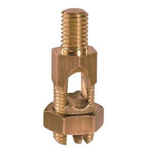 Panduit SP2-1/0-L Bronze Service Post Connector, #2 SOL-1/