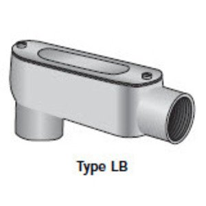 "Appleton LB300DCG Conduit Body, Type LB, 3"", Aluminum, Form 5, Cover/Gasket Included"
