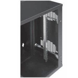"Hoffman EWMR36S Rack Angle, 19''W, 19 RMU, 36.00"" Length, fit 36"" Square, Black"