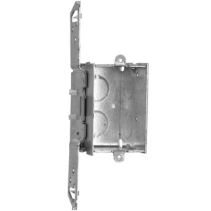 "Hubbell-Raco 504 Switch Box, Gangable, 2-1/2"" Deep, TS Bracket, Drawn, Steel"