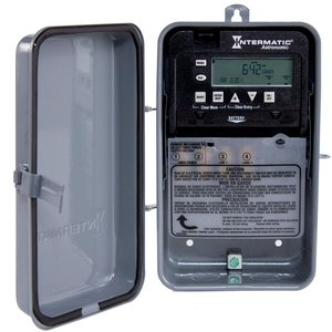 Intermatic ET8015CR Time Switch, 7-Day, Astronomic, SPST, NEMA 3R, 30A, 120-277VAC *** Discontinued ***