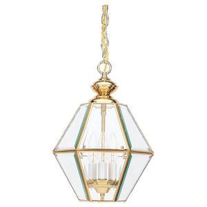 Sea Gull 5116-02 Pendant, 3 Light, 40W, Polished Brass