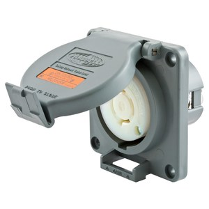 Hubbell-Kellems HBL2410SW 3P4W, 20A 125/250V, L14-20R, Watertight Housing & Flange