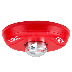 Honeywell SCR Strobe, Indoor, Ceiling Mount, 12/24VDC, Red