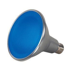 Satco S9482 Satco S9482 15 watt PAR38 LED; Blue; 40' beam spread; Medium base; 120 volts