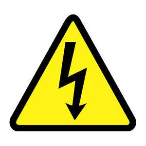 Panduit WL32Y Warning Label, Vinyl, Electrical Symbol,