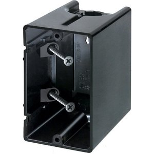 "Arlington F101 Switch/Outlet Box, 1-Gang, 3-1/2"" Deep, Non-Metallic"