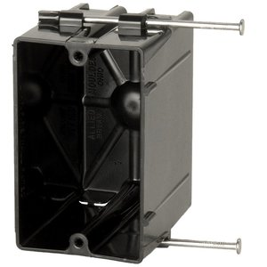 Allied Moulded P-201R Single gang electrical box for use with nonmetallic sheathed cable
