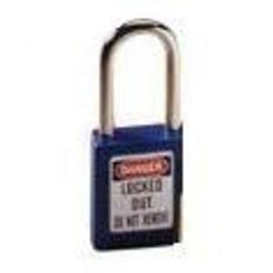 Ideal 44-912 Padlock,Ideal,Lockout,Xenoy BDY Lock,BLU,1-1/2 IN W,PKG: CD of 1