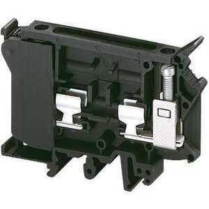 Square D NSYTRV42SF6 Terminal Block, Fused, 10.2mm, Black, G Fuse, 10A, 600VAC, Lever