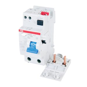 Thomas & Betts DDA202AC-63/.03 Breaker, DIN Rail Mount, System Pro M, Residual Current, 30mA, 63A