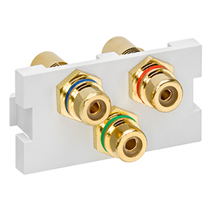 41292-3DW WHT MULTIMEDIA OUTLET SYSTEM