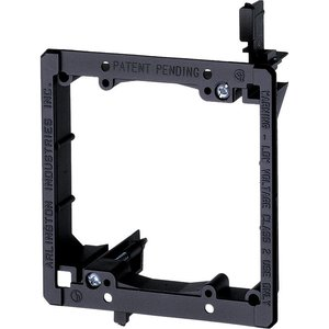 Arlington LV2 Mounting Bracket, 2-Gang, Low Voltage, Non-Metallic