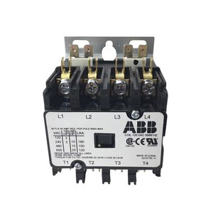 ABB DP30C4P-2 30A, 4P, Definite Purpose Contactor