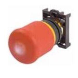 Eaton M22-PV60P Push Button, Push-Pull, Emergency Stop, 60mm, Red Mushroom Head