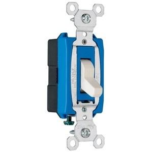 Pass & Seymour CS15AC1-LA Single Pole Switch, 15A, 120/277VAC, Light Almond