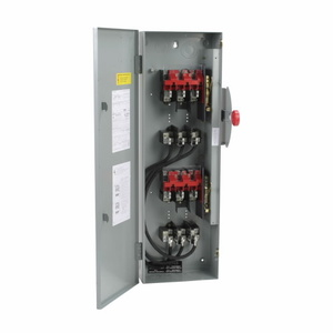 Eaton DT363NGK Safety Switch, Double Throw, Heavy Duty, 100A, 600VAC, NEMA 1