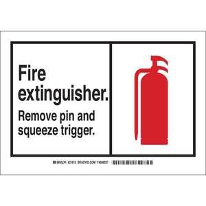 21813 B401 7X10 ANSI BLK,RED/WHT FIRE EX