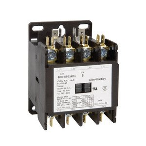 Allen-Bradley 400-DP25ND4 Contactor, Definite Purpose, 25A, 4P, 120VAC Coil, 600VAC Rated