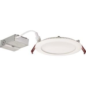 "Lithonia Lighting WF6-LED-40K-MW-M6 LED Downlight, 6"", Thin, 4000K, 13.6W, 765 Lumens, Matte White"