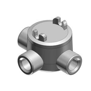 "Thomas & Betts GUAT26-TB Conduit Outlet Box, Type GUAT, 3/4"", Iron/Aluminum"
