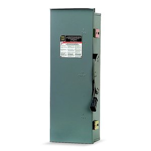 Square D DTU223RB Transfer Switch, Non-Fused, 100A, 240VAC, 2P, NEMA 3R