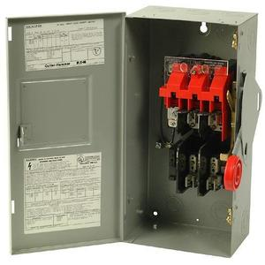 Eaton DH361FGK Safety Switch, 30A, 3P, 600VAC/250VDC, Type DH, Fusible, NEMA 1