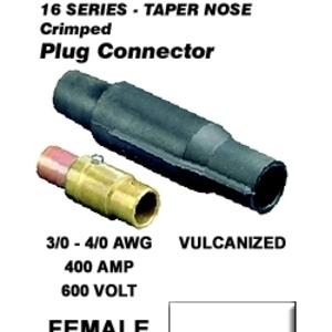 16V28-W WH FEM VULC PLUG TAPER NOSE