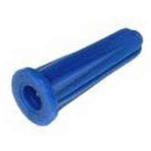 "Bizline 8579J Plastic Anchors, Blue Conical, # 10-12 x 1"", 100/Jar"