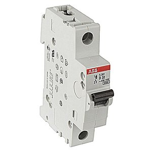 ABB S201-D32 Circuit Breaker, Miniature, DIN Rail Mount, 32A, 1P, 230VAC