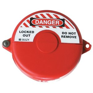 "Brady 65560 Gate Valve Lockouts, 1 to 2-1/2"", Red"