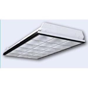 Hubbell-Columbia Lighting P4D24-332G-MA38-S-3EB8UNV Parabolic Fixture, 4', 3-Lamp, T8, 120/277V, 32W