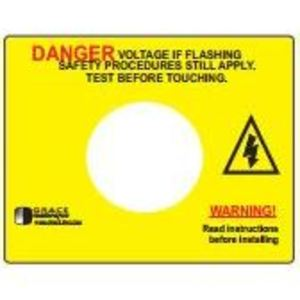Grace Technologies R-3W-SR-L Voltage Indicator, Warning Label, Adhesive Backed, for R-3W-SR *** Discontinued ***