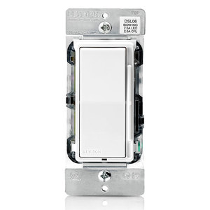 Leviton DSL06-1LZ Decora Rocker Slide Dimmer
