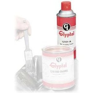 Glyptal 1201A Acrylic Enamel Paint, 16 Ounce Can, Red