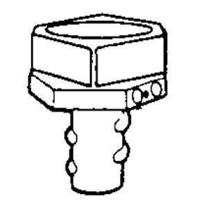 "Hubbell-Raco 1482 Combination Coupling, EMT to Flex, 1/2"", Zinc Die Cast"