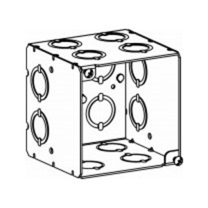 "Orbit Industries 4SEDB-CKO 4"" Square Box, 3-1/2"" Depth, Welded, Steel"