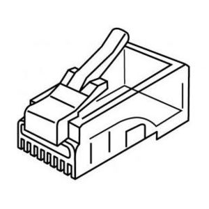 Platinum Tools 106153J Modular Plug, RJ45, Standard, 8P8C, Round Solid, 100 per Jar