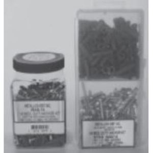 "Metallics WAK15 Anchor Kit, Red 5/16"" Plastic Anchors, (100) 12 x 1-1/4 Pan Combo Screws, (1) Bit"