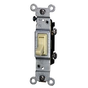 Leviton 2651-2I Single-Pole Toggle Switch, 15A, 120VAC, Ivory, Residential, CO/ALR