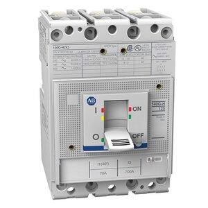 Allen-Bradley 140G-H6C3-C40 Circuit Breaker, Molded Case, Frame H, 40A, 3P, 600VAC