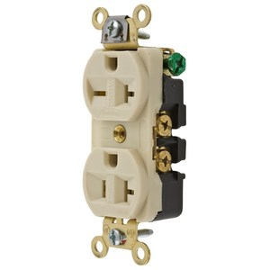 Hubbell-Wiring Kellems HBL5292I COMBO DUP RCPT, 15A