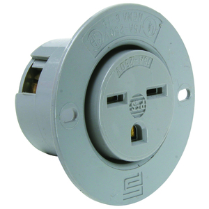Pass & Seymour 5679-SS STR BLD FLANGED OUTLET 3W 15A 250V