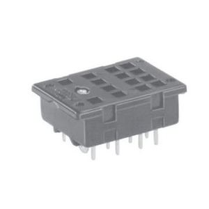 Tyco Electronics 27E166 Socket, 14 Blade, Screw Terminal, KHA Relays, Printed Circuit Mount