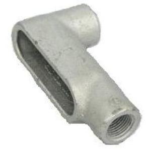 "Cooper Crouse-Hinds LB17 Conduit Body, Type LB, 1/2"", Form 7, Iron Alloy"