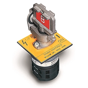 Allen-Bradley 440T-MRPSE11AA Trapped Key Switch, Rotary, 20A, 2 NO & 2 NC Contacts, Panel Mount