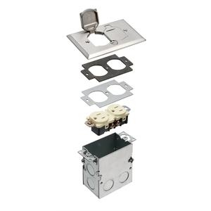 FLB5331NL FLR BOX/NICKEL PLT FLIP CVR