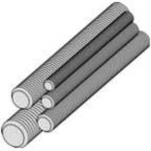 """Metallics TRS610 All Threaded Rod, Zinc-Plated, 1/4"""" x 10'"""